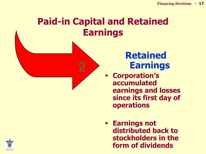 Paid-in Capital and Retained Earnings