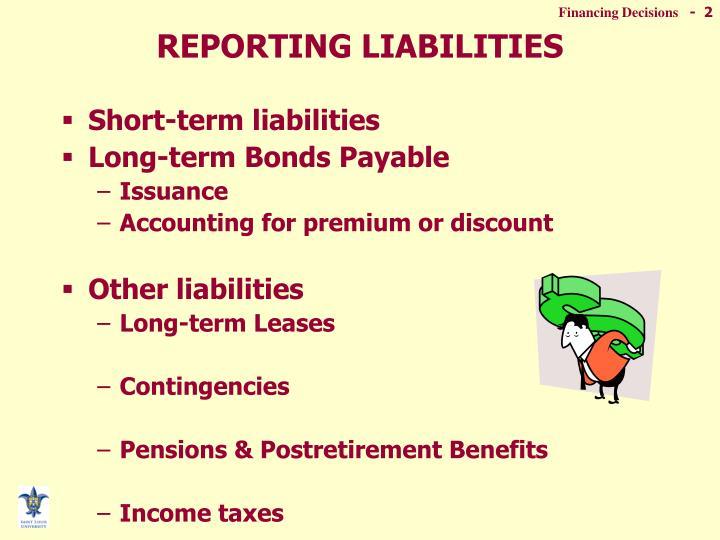 REPORTING LIABILITIES