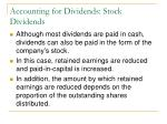 accounting for dividends stock dividends