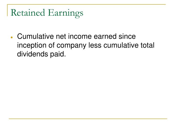 Retained Earnings