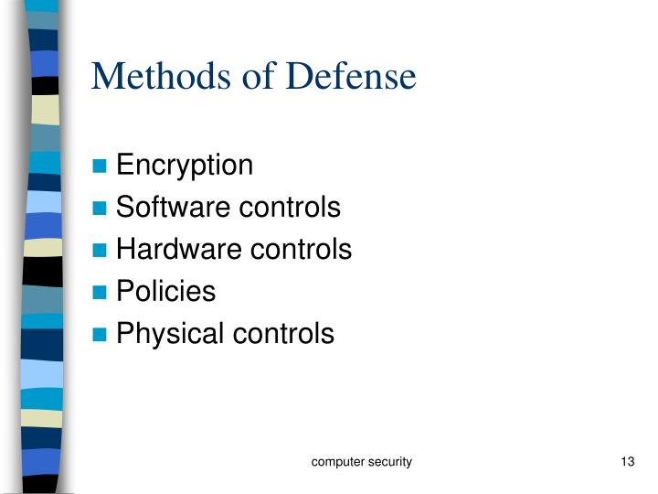 Methods of Defense