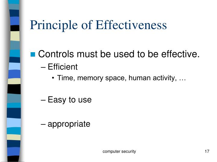 Principle of Effectiveness