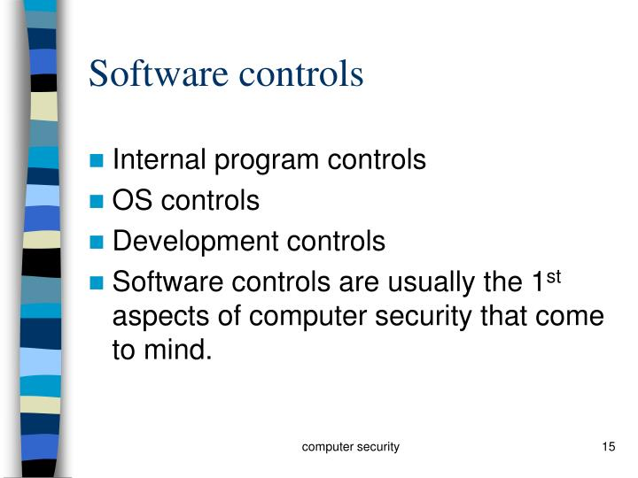 Software controls