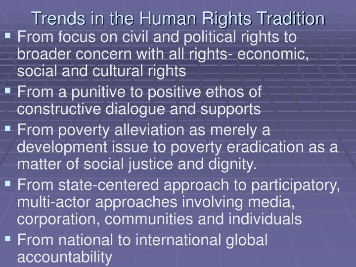 Trends in the Human Rights Tradition