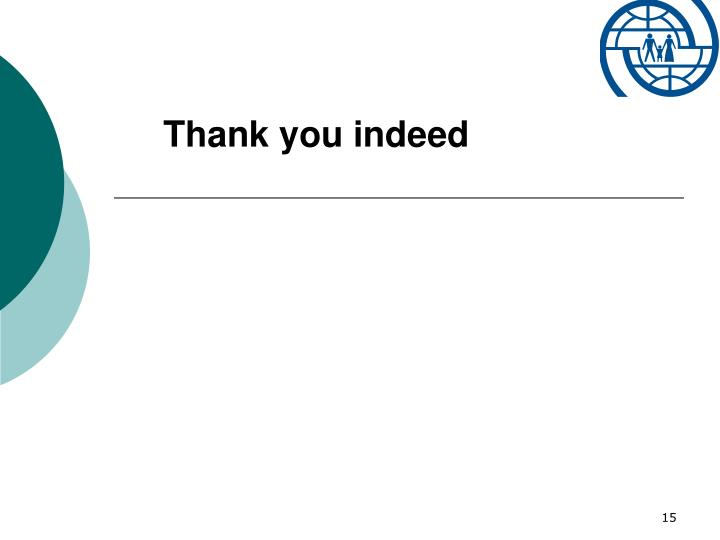 Thank you indeed