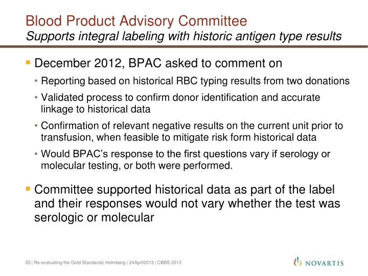 Blood Product Advisory Committee