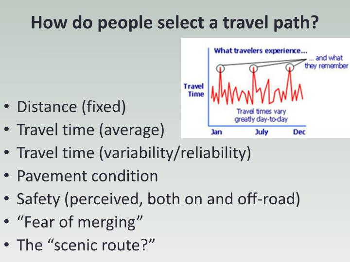How do people select a travel path