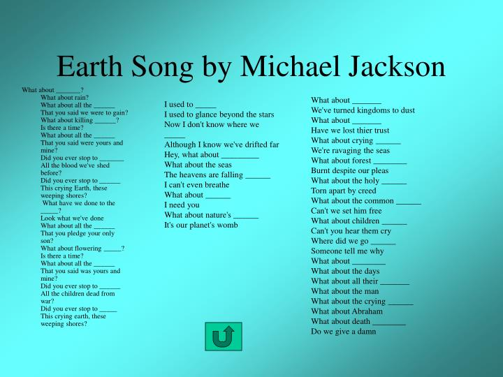 Earth Song by Michael Jackson