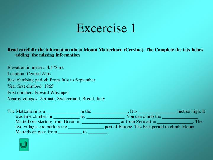Excercise 1