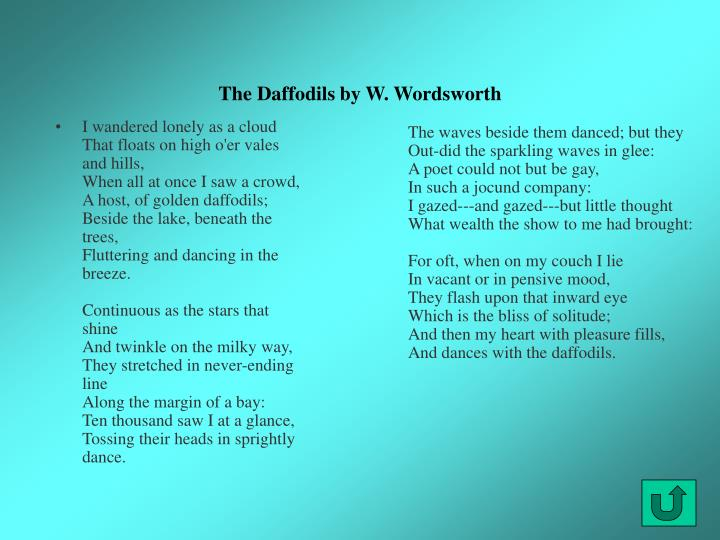 The Daffodils by W. Wordsworth