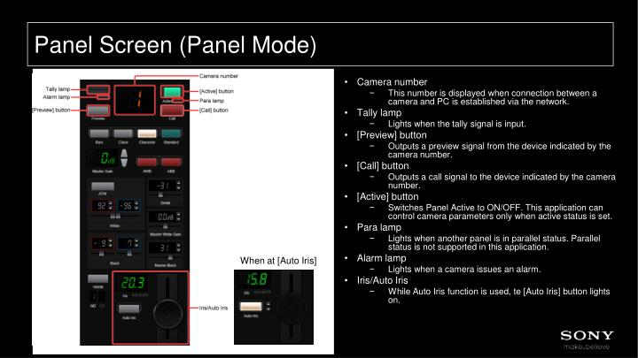 Panel Screen (Panel Mode)