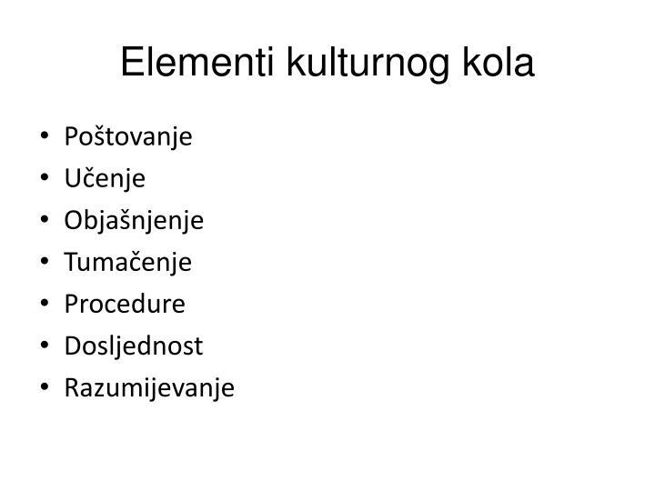 Elementi kulturnog kola