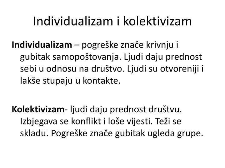 Individualizam i kolektivizam