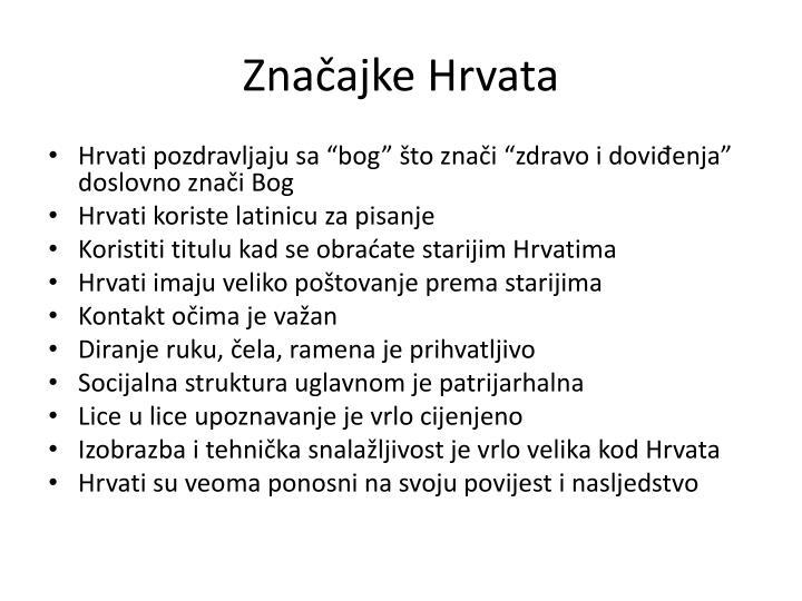 Značajke Hrvata