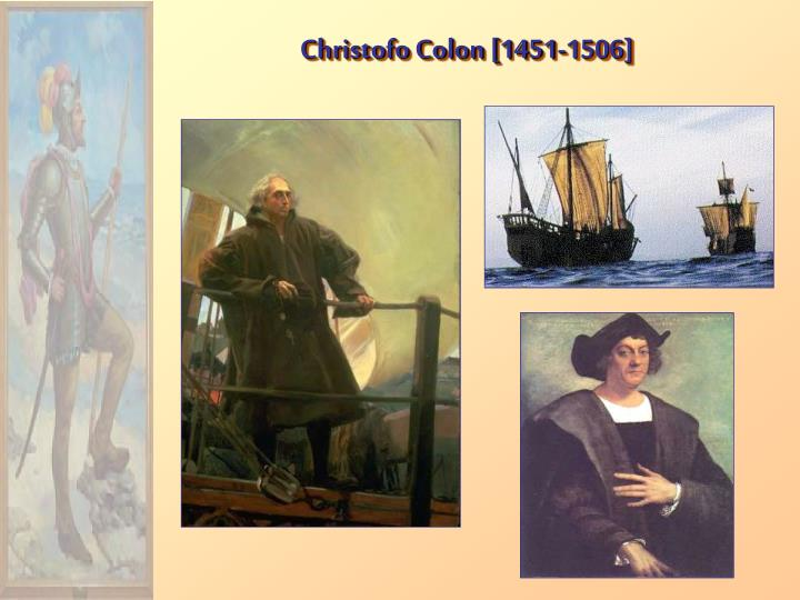 Christofo Colon [1451-1506]