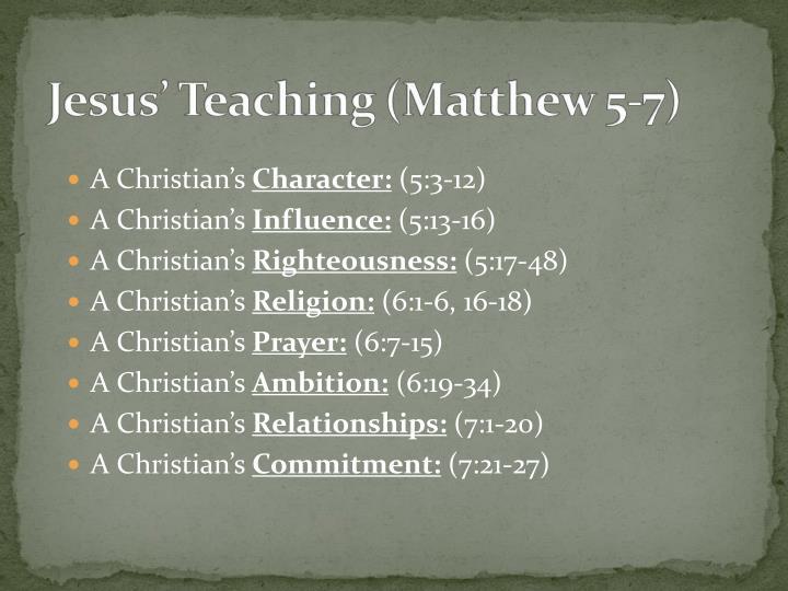 A Christian's