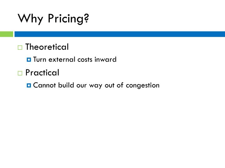 Why Pricing?
