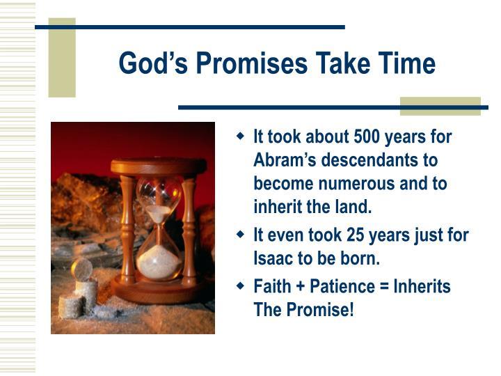 God's Promises Take Time
