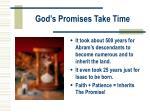 god s promises take time