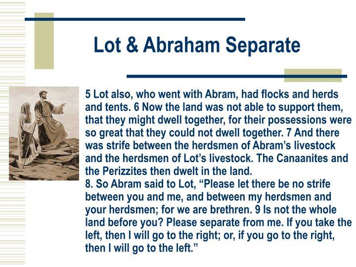 Lot & Abraham Separate