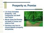 prosperity vs promise
