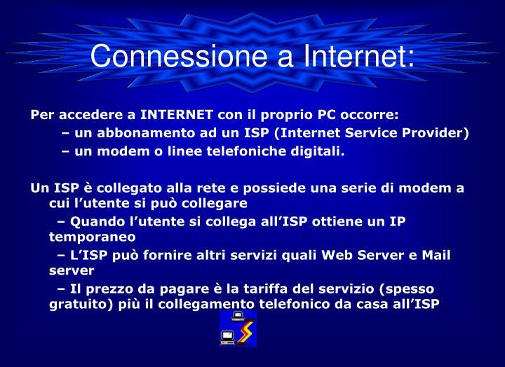 Connessione a Internet: