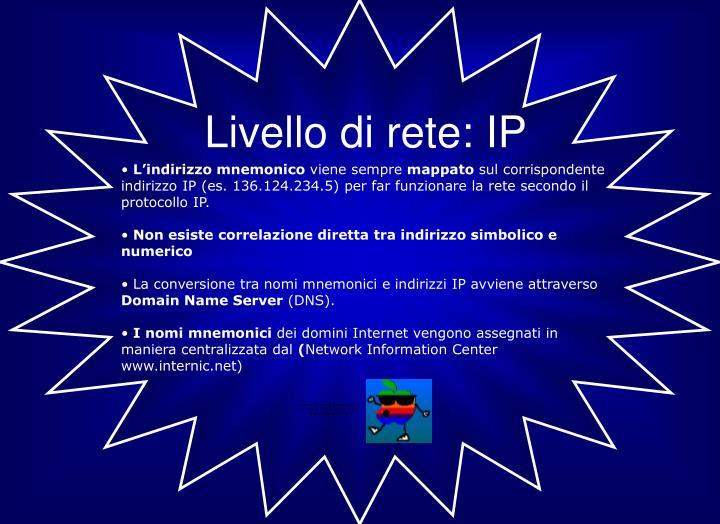 Livello di rete: IP