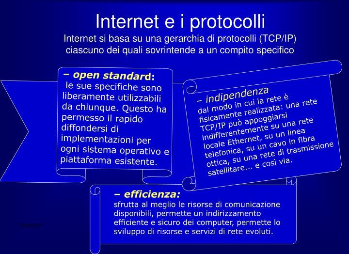 Internet e i protocolli