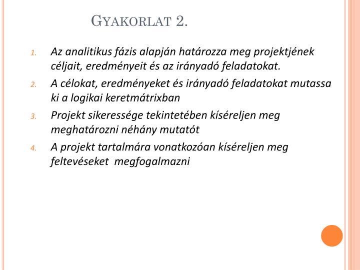 Gyakorlat 2.