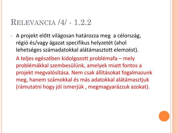 Relevancia /4/ - 1.2.2