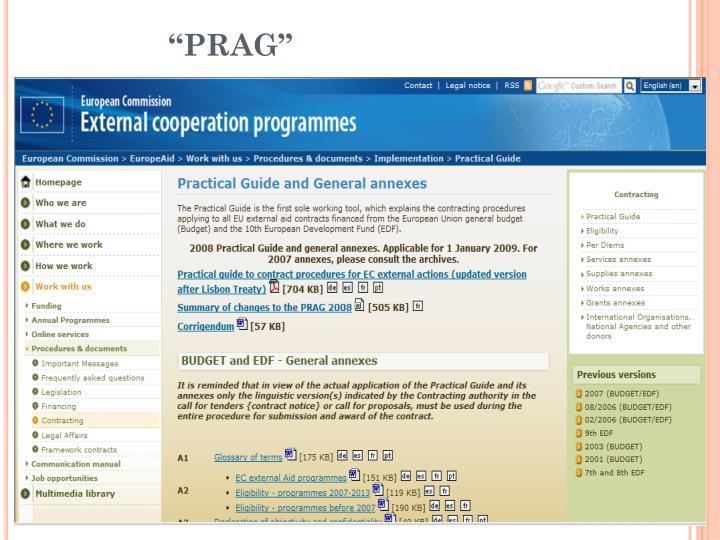 """""""PRAG"""""""