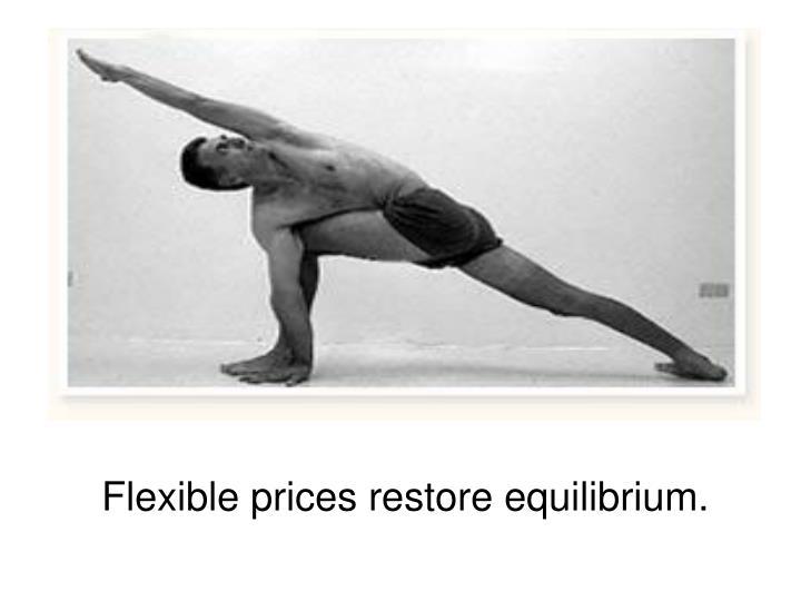 Flexible prices restore equilibrium.