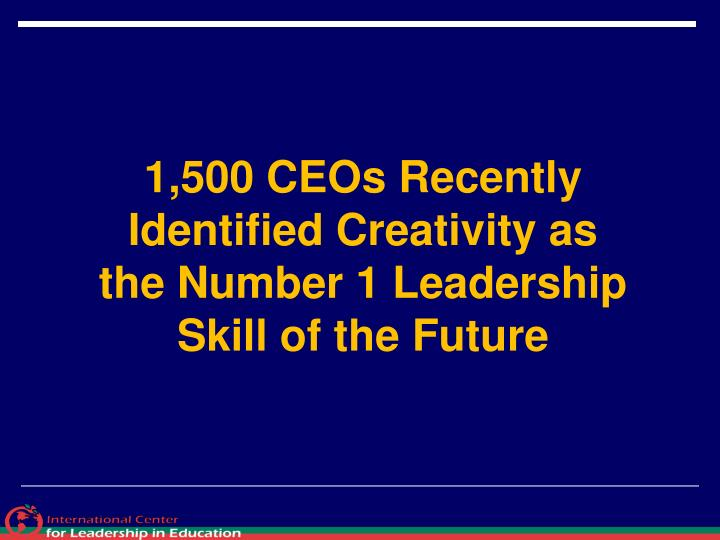 1,500 CEOs Recently Identified Creativity as