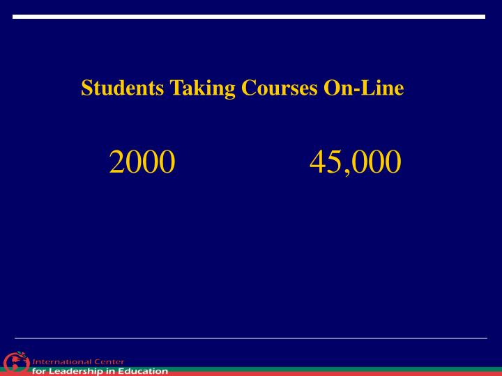 Students Taking Courses On-Line