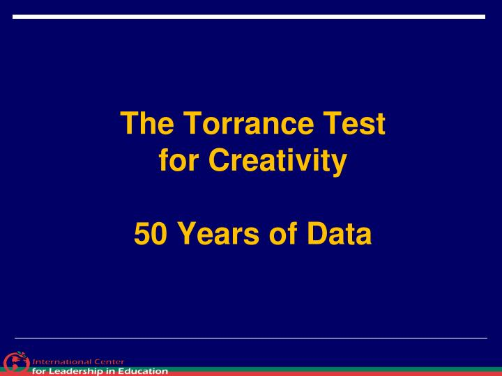 The Torrance Test