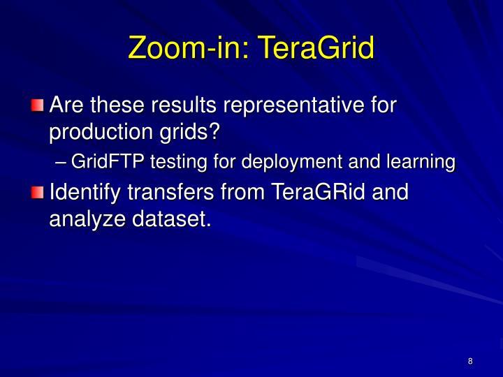 Zoom-in: TeraGrid