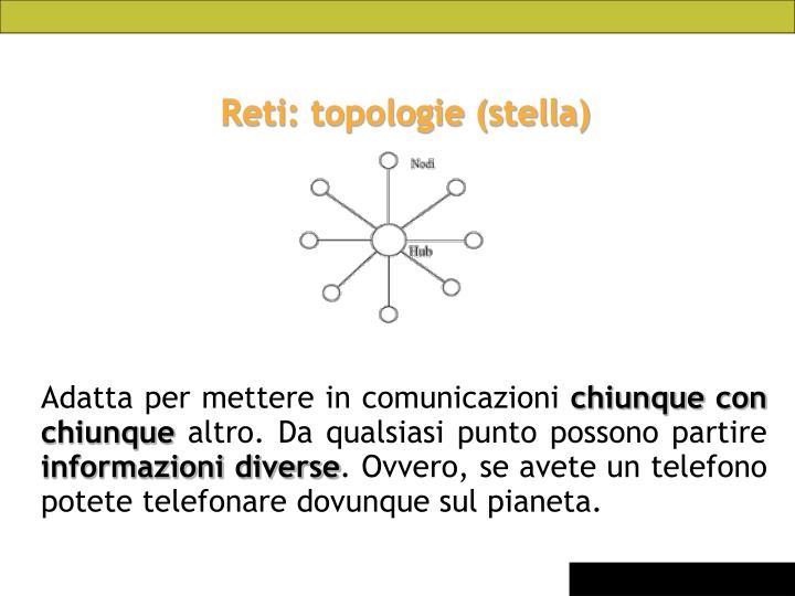 Reti: topologie (stella)