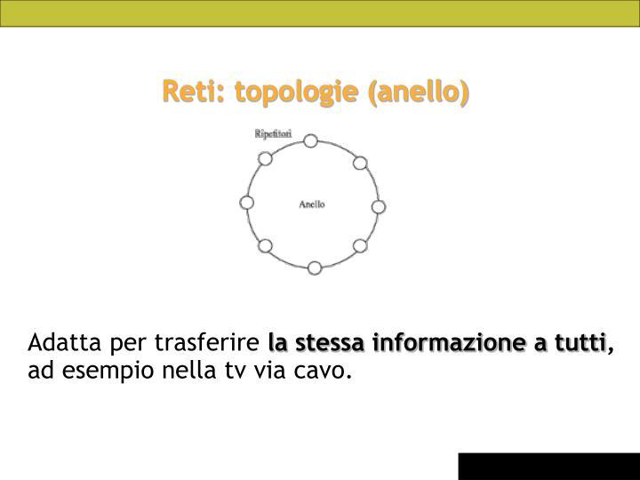 Reti: topologie (anello)