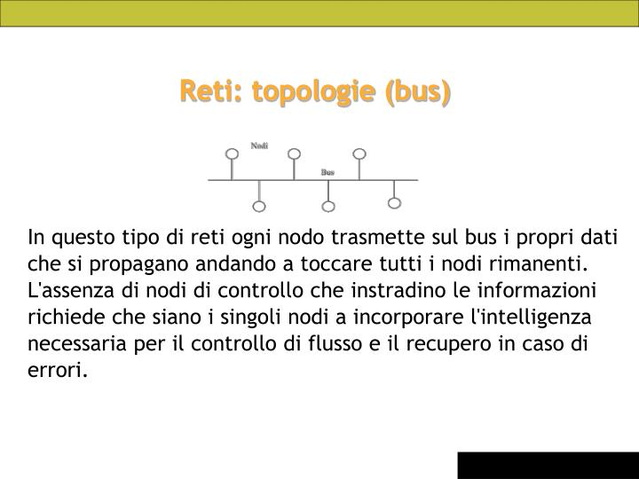 Reti: topologie (bus)