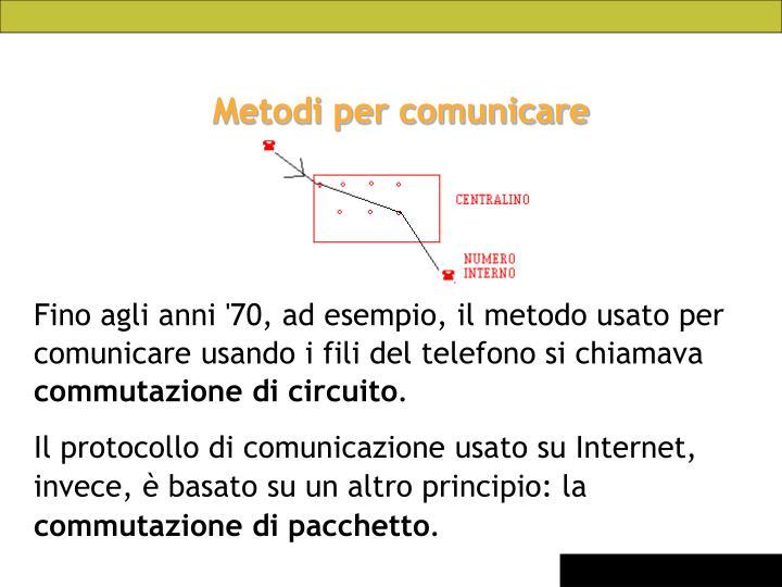 Metodi per comunicare