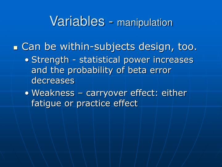 Variables -