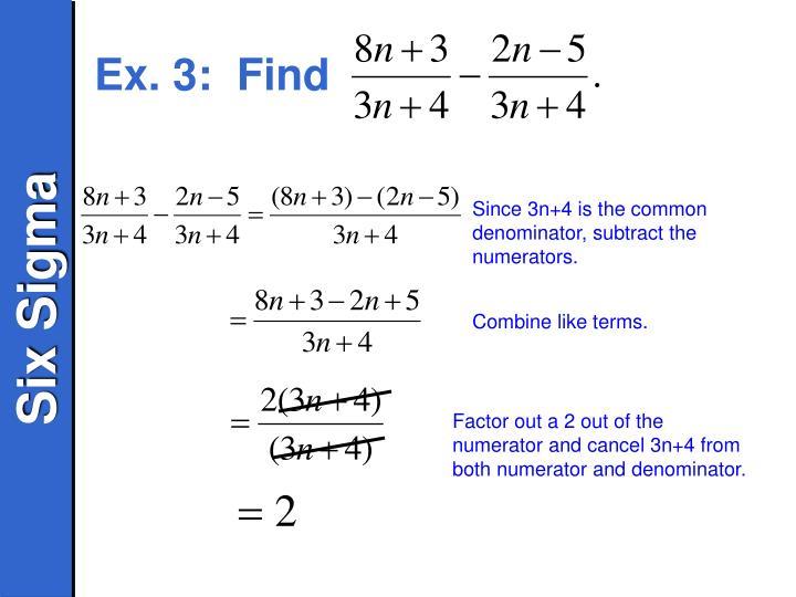 Ex. 3:  Find