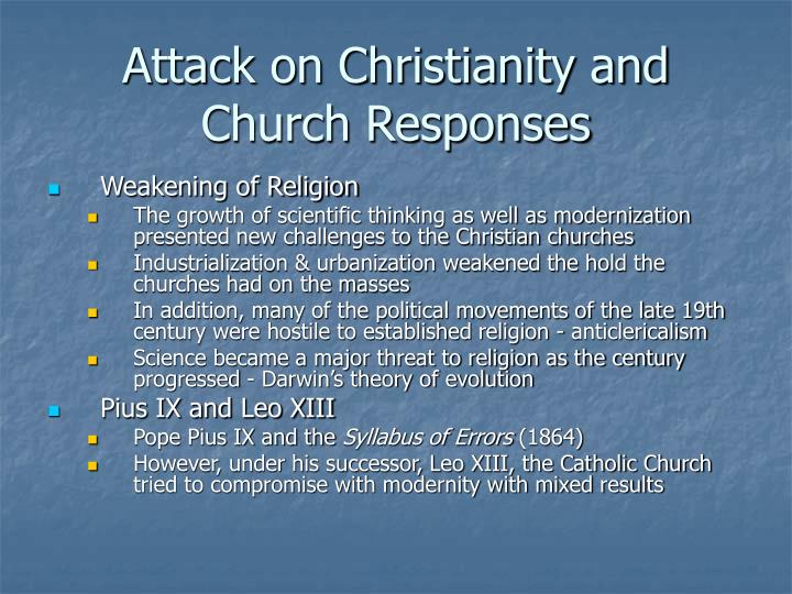 Attack on Christianity and Church Responses