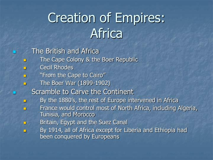 Creation of Empires: