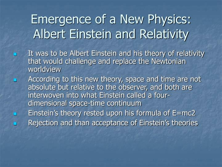 Emergence of a New Physics: