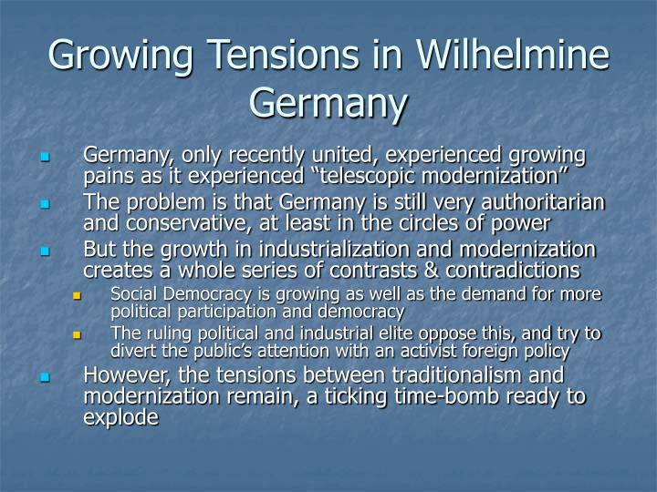 Growing Tensions in Wilhelmine Germany