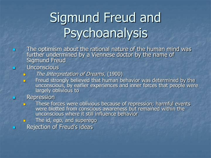 Sigmund Freud and Psychoanalysis