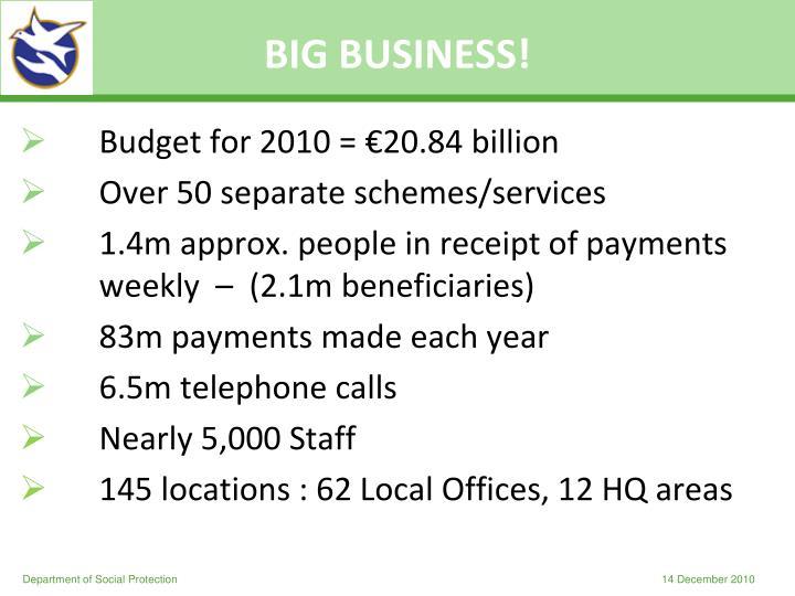 BIG BUSINESS!