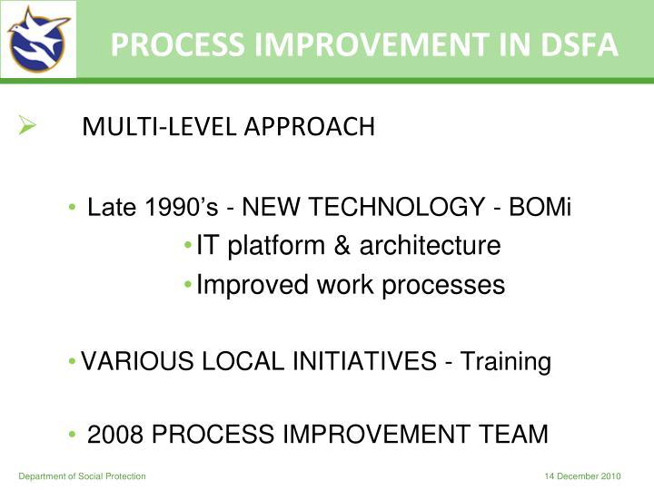 PROCESS IMPROVEMENT IN DSFA