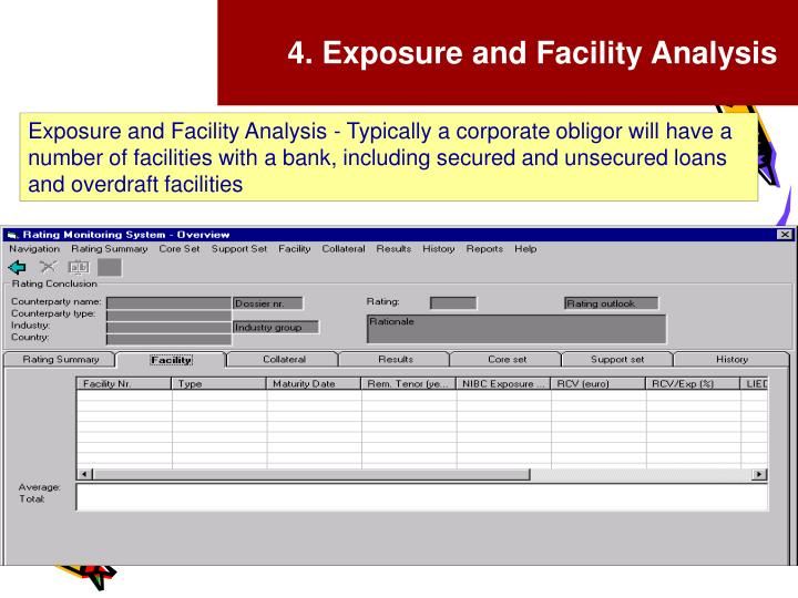 4. Exposure and Facility Analysis
